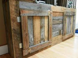 Pallet Corner Entertainment Center