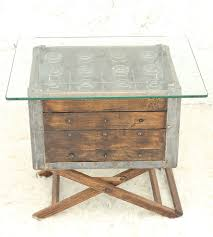 Vintage Milk Crate Side Table