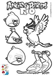 Coloring Pages Angry Birds Rio
