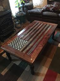 blown away by this rustic flag coffee table click through to see