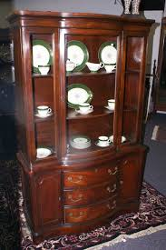 mahogany duncan phyfe bow front china cabinet for sale antiques