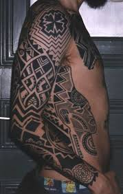 African Tribal Sleeve Tattoos Tattoo On