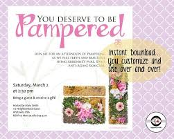 You Deserved To Be Pampered Arbonne Party Instant Download Social Media Invitation Invite Digital