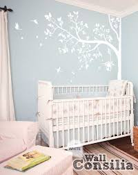 white tree wall decal with leaves and birds murals walls