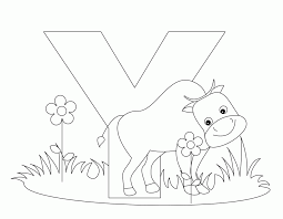 Zoo Animals Coloring Pages Animal Alphabet Letter Y