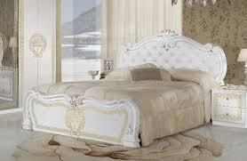 schlafzimmer vilma medusa 6 teilig in weiß barock mit polsterung schrank 4 trg