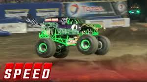 100 Monster Trucks Nashville Grave Digger Wins Anaheim Freestyle 2016 Jam SPEED