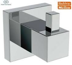 details zu ideal standard iom cube handtuchhaken chrom modern neu badezimmer e2192aa