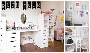 coiffeuse bureau room tour rangement makeup idées déco diy