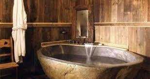 badezimmer holy mit freistehender badewanne aus stein
