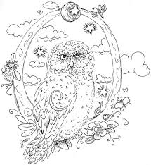 Mythical Creatures Coloring Pages Seafood Owl Page For Kids Animal