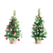 2 Ft Christmas Tree With Lights Best Artificial Trees Led Battery 2ft