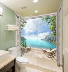 fototapeten heimwerker 3d tier ozean tapete badezimmer