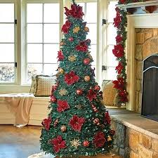 Pull Up Christmas Trees Decorated Tree Tittle