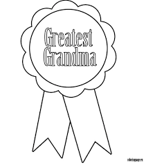 Grandparents Day Coloring Page Grandmother