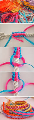 DIY Macrame Ribbon Bracelet Diy Ideas Crafts Do It Yourself Tips Images Craft Jewelry