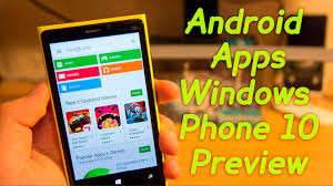 How to Install ANDROID Apps on WINDOWS PHONE 10 Preview Easy