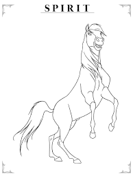 Spirit The Horse Coloring PagesColoring