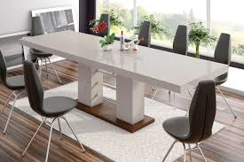 100 White Gloss Extending Dining Table And Chairs Jayden Cappuccino High