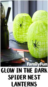 Glow In The Dark Plastic Pumpkins by Diy Glow In The Dark Spider Nest Lanterns Not Quite Susie