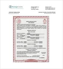 Awesome Birth Certificate Translation Template Spanish To English Marriage Uk Free