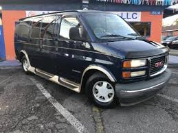 2001 GMC Savana Cargo G 1500 Conversion Van With Leather Seats