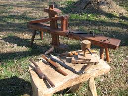 Shaving Horse And Hewing Bench