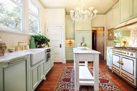 Kitchen RemodelNarrow Island For Galley Design With Chandelier Remodel