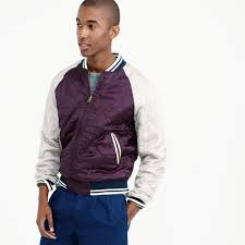 J.crew Wallace & Barnes Souvenir Jacket In Purple For Men | Lyst Wallace Barnes Corblock Bomber Jacket Men Coats Jackets Jcrew Cottontwill Bomber Jacket In Black For Wide Eyes Tight Wallets Mens Fall And Winter Casual Jackets Lined Gransden Green Lyst Flight Sherpacollar Wool Shelingcollar Spring Menswear Button Downs Feel The Power Of Womens Leather Accsories 23 Best Images On Pinterest Bombers