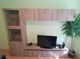 ikea tv wand glasvitrine und 3 hängeschränke ohne lowboard