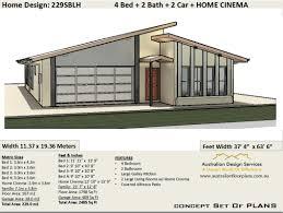 104 Skillian Roof Skillion Design 229sblh House Plan Australianfloorplans