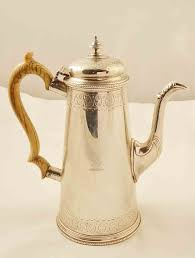 Antique English Victorian Silver Coffee Pot London 1865