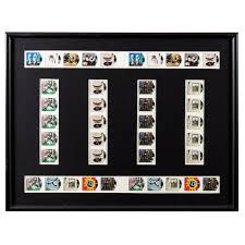 Framed Sheet Of UK Royal Mail Rock N Roll Stamps
