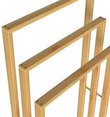 casaria handtuchhalter bambus 3 bambusstangen treppenförmig