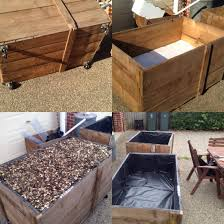 Raised Garden Bed Made From Old Wooden Shipping Crate Patchtotable