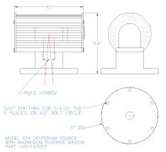 Deuterium Lamp Power Supply by Mgf2 Window Deuterium Mcpherson
