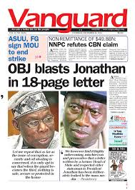 Clinton Cabinet Member Federico Crossword by Obj Blasts Jonathan In 18 Page Letter By Vanguard Media Limited