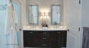 Chandelier Over Bathroom Sink by Fiorito Interior Design The Luxury Bathroom By Fiorito Interior