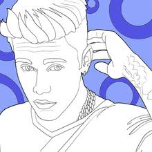 JUSTIN BIEBER Coloring Pages Justin Bieber And His Tattoo
