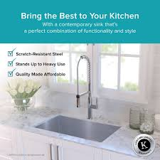 Garbage Disposal Backing Up Into 2nd Sink by Stainless Steel Kitchen Sinks Kraususa Com