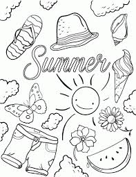 Trends Book Free Summer Coloring Pages For Page