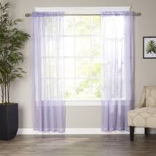 Purple Ruffle Curtain Panel by Purple Ruffle Curtains Wayfair