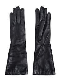 ann demeulemeester nappa leather gloves in black lyst