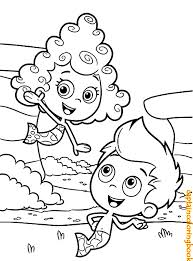 Bubble Guppies Printable Coloring P The Frozen Pages