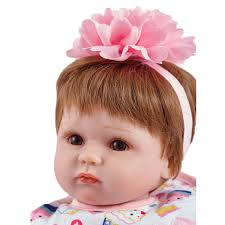 Realistic Baby Doll Lifelike Baby Reborn Girl Doll 22 Inch With Pink