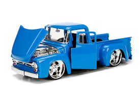 99 Blue Ford Trucks Just Series 1956 F100 Pick Up 124 Scale