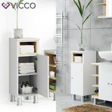 details zu vicco badschrank aquis weiß eiche midischrank bad schrank badregal badezimmer