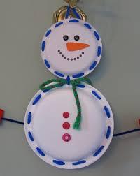 Kindergarten Holidays Seasons Activities Lace A Paper Plate Snowman