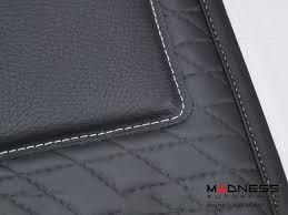 Car Floor Mats by Smart Car Floor Mats Leather Black W Black Binding 451