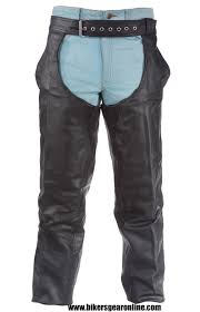 men u0027s motorcycle black leather riding chap pants braided bikers